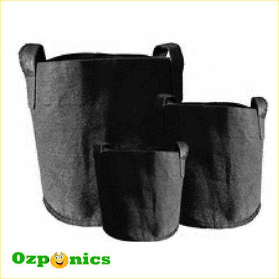 5x HYDROPONICS GREENROOTS FABRIC POT Soft Smart Plant Growing Bag with Handles