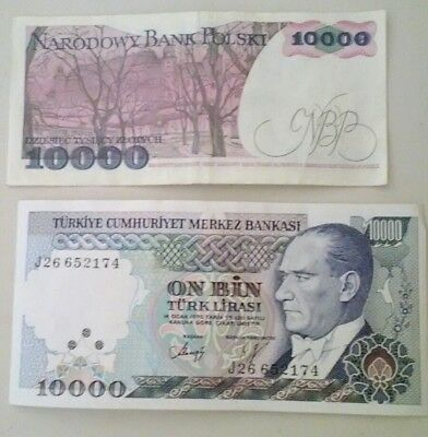Turkish & Polish Foreign paper money