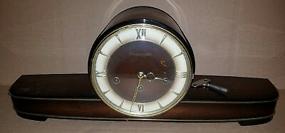 VNTG WESTMINISTER S ANKER GERMAN CHIME MANTLE CLOCK 1940s EXC.