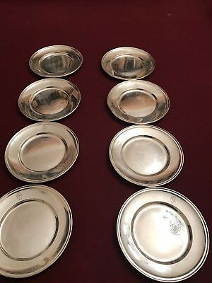 Sterling Silver Gorham Butter/bread Plate  Set of (8) Monogram PBH