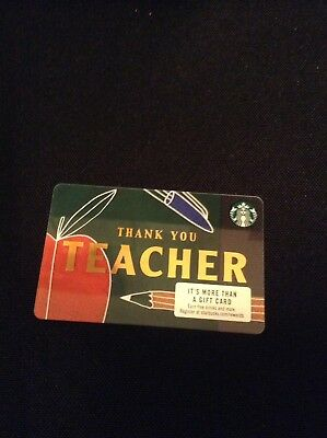 🍎 STARBUCKS 2018 THANK YOU TEACHER GIFT CARD Teacher Appreciation Free Ship