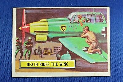 1965 Topps Battle Cards - #11 Death Rides The Wing - VG Condition