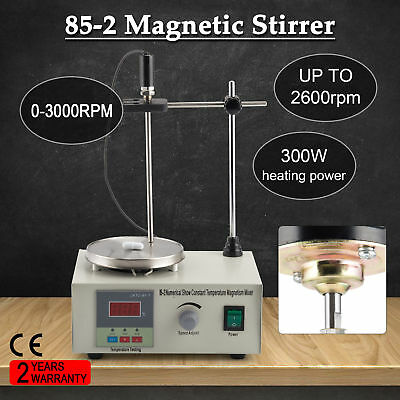Laboratory Magnetic Stirrer Mixer 2000rpm Stirring Machine w/ 300W Hot Plate