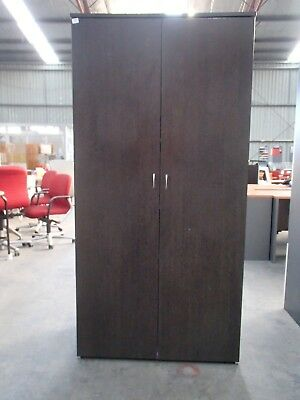 Office/Home Stationary/Storage Cabinet/Cupboard Brown Melamine 35509/14-15