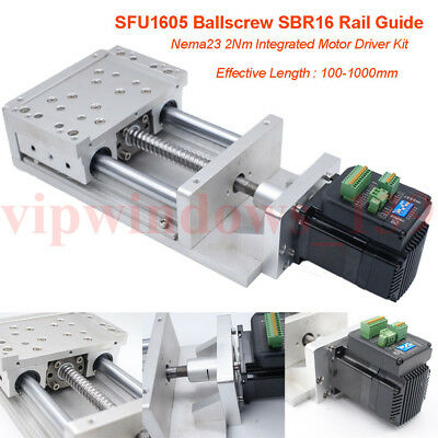 SFU1605 Cross Sliding Table XYZ Axis Motorized Linear Stage Nema23 Stepper Motor