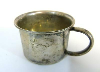 ANTIQUE TOWLE STERLING SILVER BABY CUP w/RABBIT IN THE BOTTOM