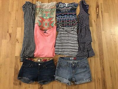 Junior Girls  Women Mixed Summer Clothes Lot 8 Items size S M