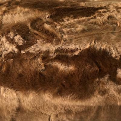 "LUXURY Faux Bunny Fur Fabric Material CHIPMONK 60"" 150cm wide"