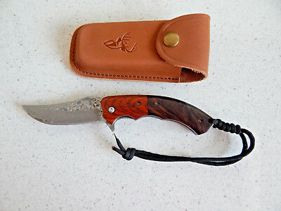 VG10 Damascus Steel, Hand Made, Fast Opening Flipper, Hunting Folding Knife