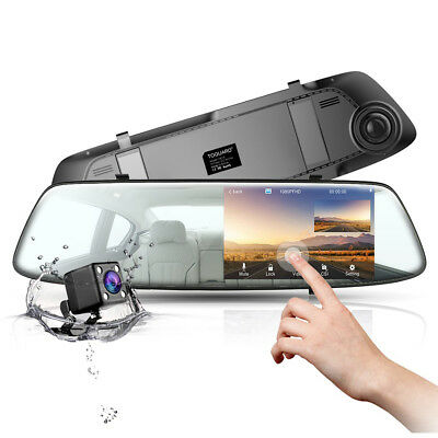 TOGUARD Dual Lens Telecamera Auto Touch Screen DashCam FHD 1080P DVR Recorder EU