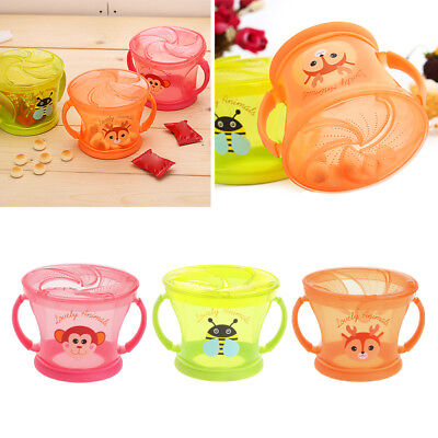 Soft Food Bowl Children Snack Spilled Cup Leak Proof Baby Snack Box Container
