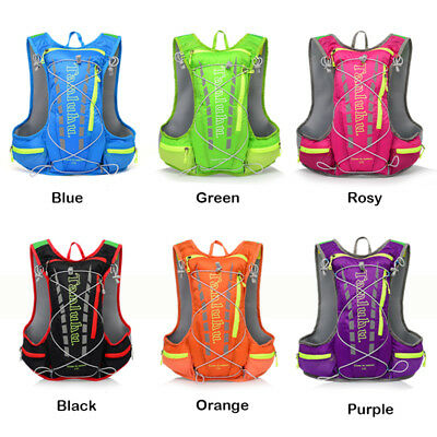Pro 12L Running Cycling Vest Backpack Sports Camping Hydration Hiking Riding Bag