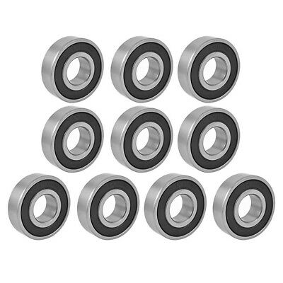 10Pcs 17mmx40mmx12mm 6203RS Shielded Deep Groove Radial Ball Bearings E5P8