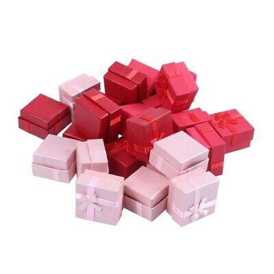 24-Piece Gift Box Set - Cube Ring Jewelry Box for Anniversaries, Weddings, J6F3