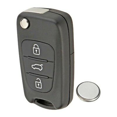 3 Button Remote Key Fob Case Service Repair Kit + Battery Kia Ceed Sportage Pro