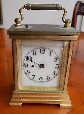 Miniature Striking Carriage Clock Waterbury Clock Co Usa