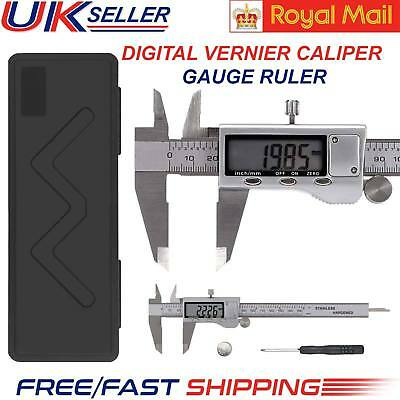 "LCD 6"" Digital Vernier Caliper Stainless Steel Micrometer Electronic Gauge Ruler"