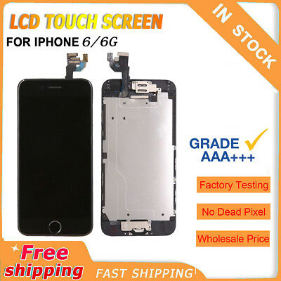 New for iPhone 6 4.7'' touch Screen LCD Digitizer Full Replacement Button Black