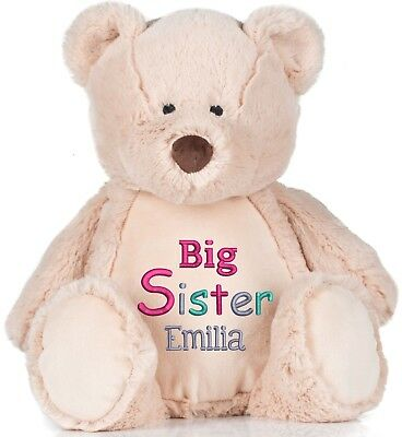 Large Teddy Bear 45cm Personalised Soft Plush Teddy Bear Embroidered & your Name