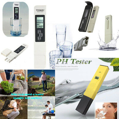 Digital TDS Tester PH Meter Water Purity PPM Filter Hydroponic Pool Tester Pen