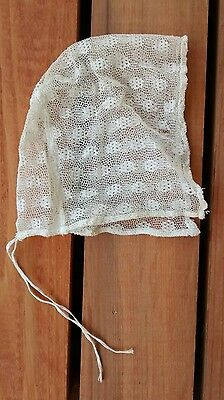 Antique Edwardian Early 1900s Lace Baby or Doll Bonnet