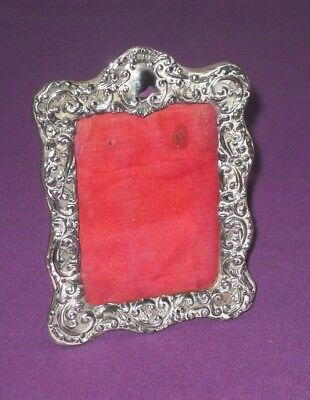 Victorian 1899 Henry Matthews Rococo Sterling Silver Photo Picture Frame Antique