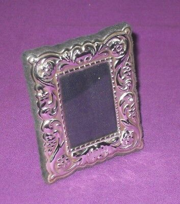 Vintage 2000 Small Embossed Sterling Silver Fully Hallmarked Photo Picture Frame
