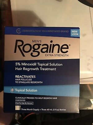 New Men's Rogaine Extra Strength Hair Regrowth Treatment, Exp: 2019