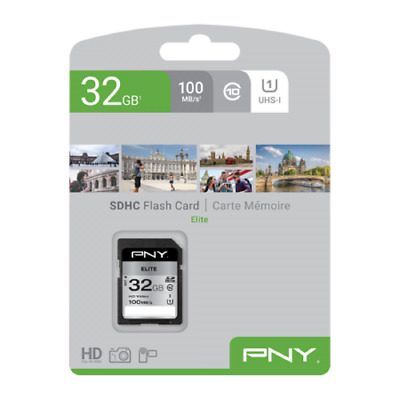 PNY 32GB High Speed SDHC SD Card Class 10 UHS-I Memory Card 80MB/S For Camera