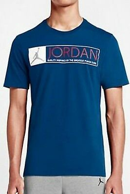 62d794a7f02 Nike Men's Air Jordan RETRO 12 THE GREATEST T-Shirts Blue 725013-442 a