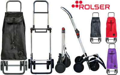 Rolser Pack 4 Wheel Premium Folding Shopping Trolley with Frame Hook