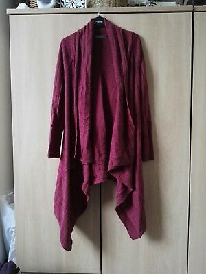south maternity waterfall cardigan size 8 10 burnt red