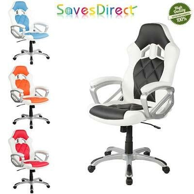 Gaming Office Chair Modern Executive Design Soft PU Leather 360 Swivel 4 Colours