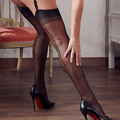 COTTELLI COLLECTION Nylons Vintage Look Nylon Straps Strümpfe Stockings HOSIERY