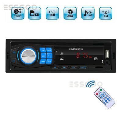 1 DIN Car Stereo Radio Audio MP3 Player Bluetooth Handsfree 4x60W USB FM AUX UK
