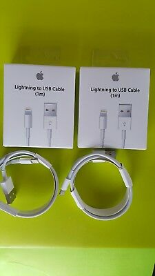 (2 PACK) ORIGINAL1M/3ft Apple Lightning USB Cable Charger iPhone: X,8,7,6,5,SE