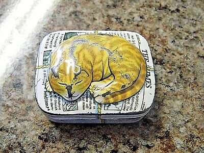 Vintage Tabby Cat on News Paper by Dana Kubick 1984 Hunkydory Box Tin Container