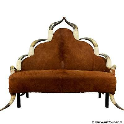 antique horn sofa ca. 1870