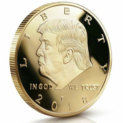 2018 U.S. President Donald Trump Gold EAGLE Commemorative Dollar Coin w/Capsule
