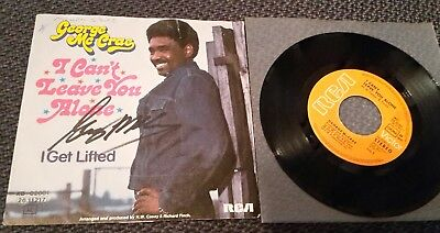 """GEORGE McCRAE: I Can't Leave You Alone - 7"""" Single 1974, Coverhülle SIGNIERT!"""