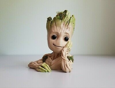 Baby Groot Planter Flower Pot Guardians of the Galaxy REAL Moss GIFT Christmas