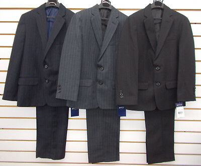 Boys Arrow $85 - $100 2pc Pin Striped Navy, Gray, or Black Suits Size 8 - 18