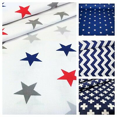 BEAUTIFUL,BEST QUALITY FABRIC 100% COTTON, Stars , stripes , chevron ,plus