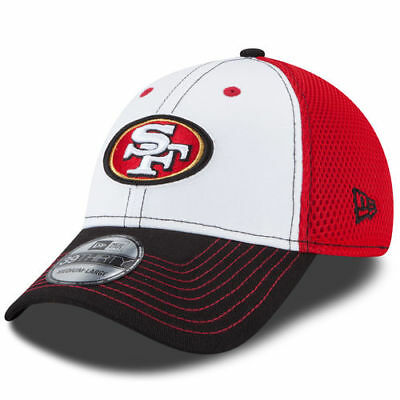 new product 78479 91bff New Era San Francisco 49ers White Black NFL Front Neo 39THIRTY Flex Hat