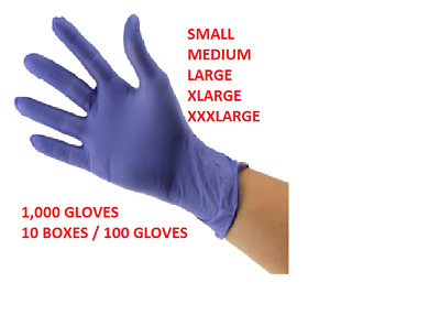 1000 Nitrile Medical Exam Gloves Powder Free ALL SIZES!! CLOSE OUT DEAL!!!