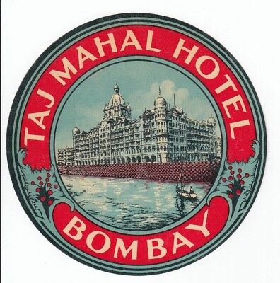 Dealer Lot ! 8 ! India Hotel Labels; Bombay, Delhi, Agra, Lahore, Peshwar