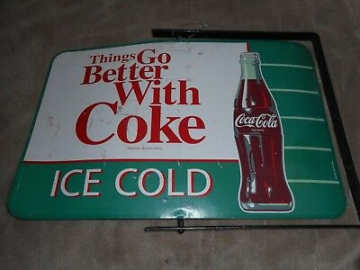 Vintage Things go better with Coke Advertising Metal sign double sided