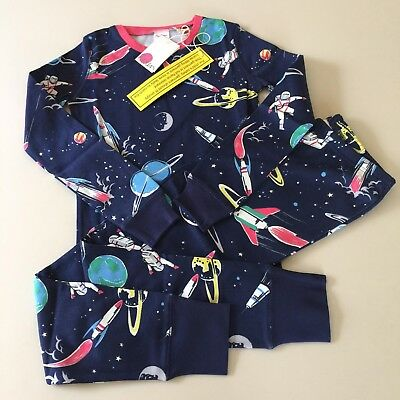 """Mini Boden Awesome Girls-Boys Glow in the Dark """"SPACE"""" Pajama Set. 7-8 years.NEW"""