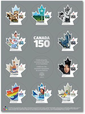 Canada Stamps - Full Pane of 10 - Canada 150 #2999 - MNH