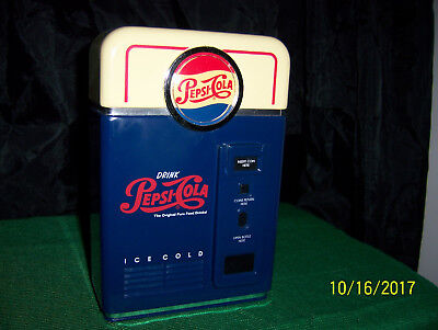 Vintage1996 Pepsi-Cola Vending Machine Replica Coin Sorter Bank  Collector Item